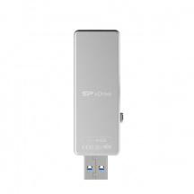 Flash Disk Silicon Power xDrive Z30, 64GB, USB 3.1/Lightning, Bielá
